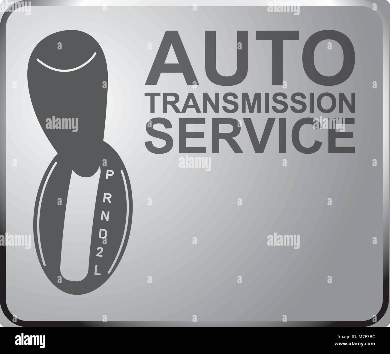 Sign Auto Service Automatic Transmission Banner Design Vector Stock Vector Image Art Alamy