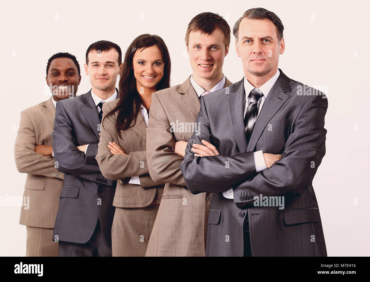 concept of victory. the winning business team - Stock Image