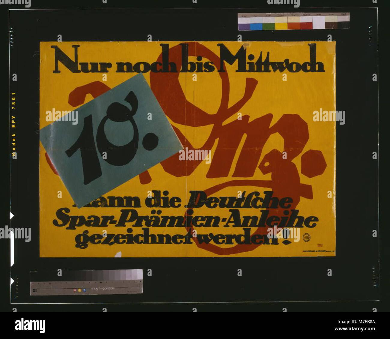 Nur noch bis Mittwoch, 10. Dez., kann die Deutsche Spar-Prämien-Anleihe gezeichnet werden - Bernhard. LCCN2004665840 Stock Photo