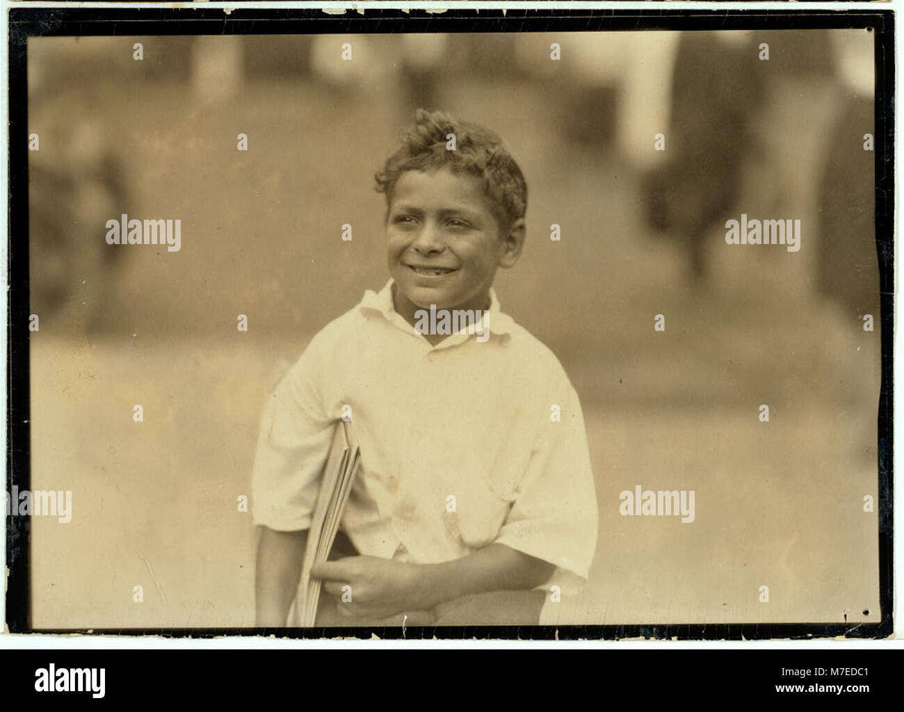 Patsy Eight Year Old Newsboy Newark N J Says He Makes Fifty Cents A Day Aug 1 1924 Loc Nclc 04054