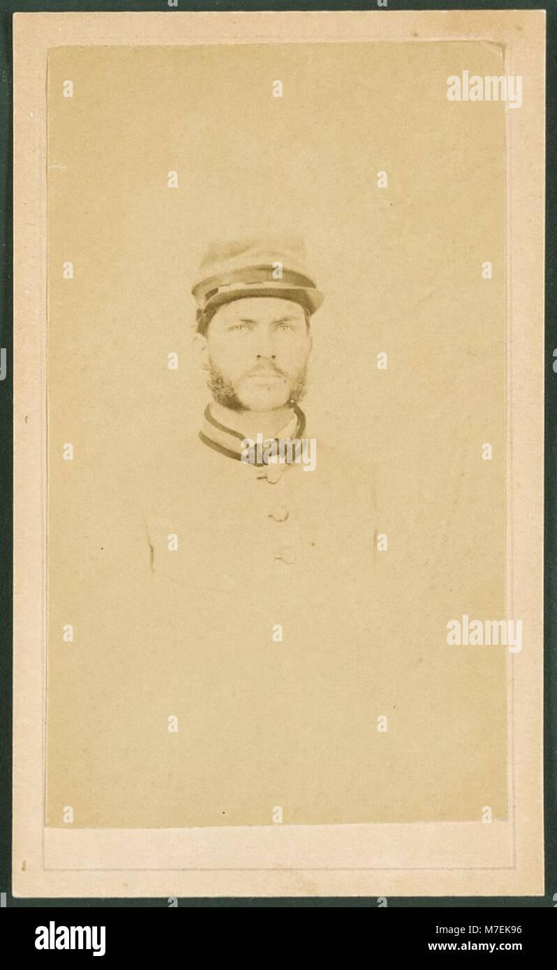 Private R. Cecil Johnson of 8th Georgia Infantry Regiment and South Carolina Hampton Legion Cavalry Battalion in Stock Photo