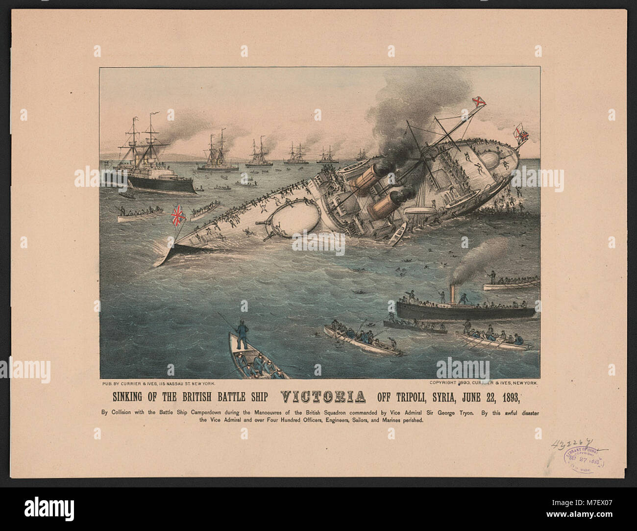 Sinking of the british battle ship victoria off tripoli syria june sinking of the british battle ship victoria off tripoli syria june 22 1893 lccn2001705846 publicscrutiny Images