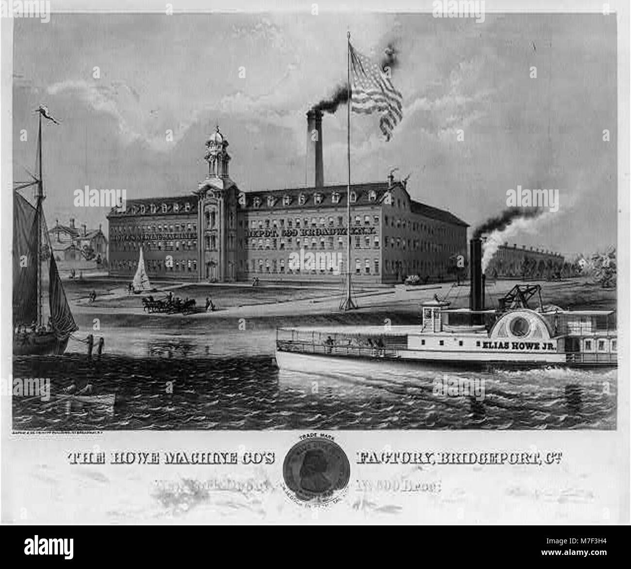 The Howe machine co's factory, Bridgeport, Co LCCN2004667235 Stock Photo