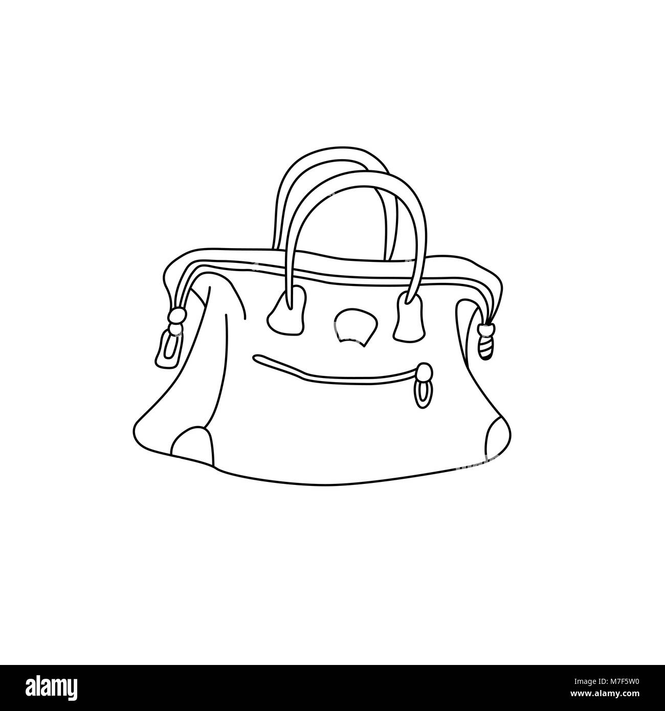 Vector Illustration Of Travel Bag Hand Drawing Sketch Suitcase Stock Vector Image Art Alamy