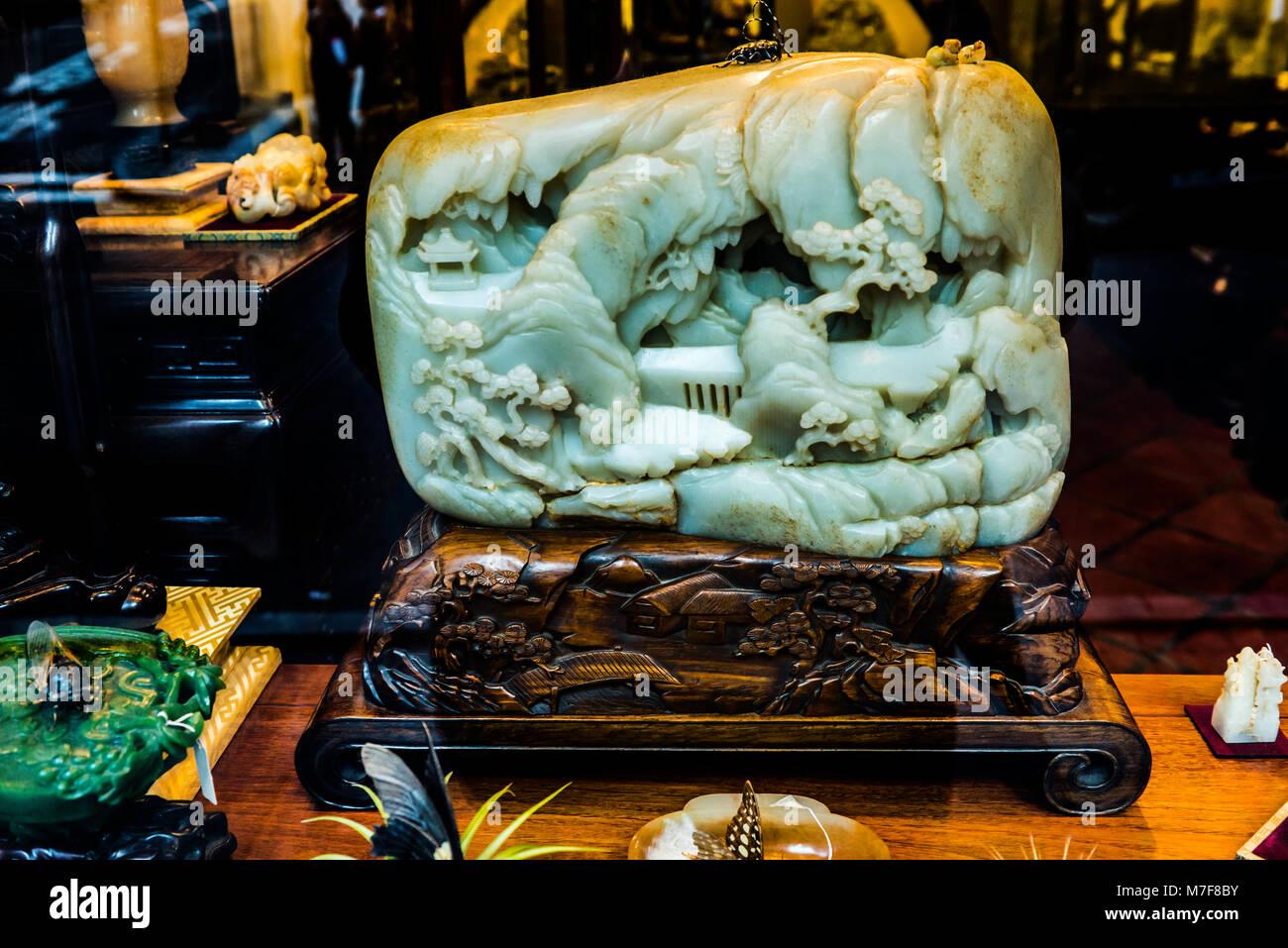 Jade Shop, Hong Kong - Stock Image