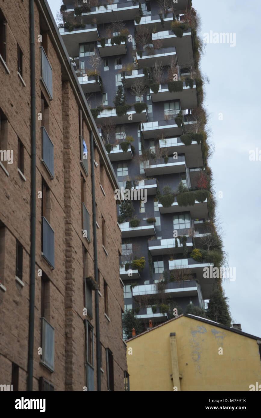 Bosco Verticale, Quartire Isola, Milano, Italy - Stock Image