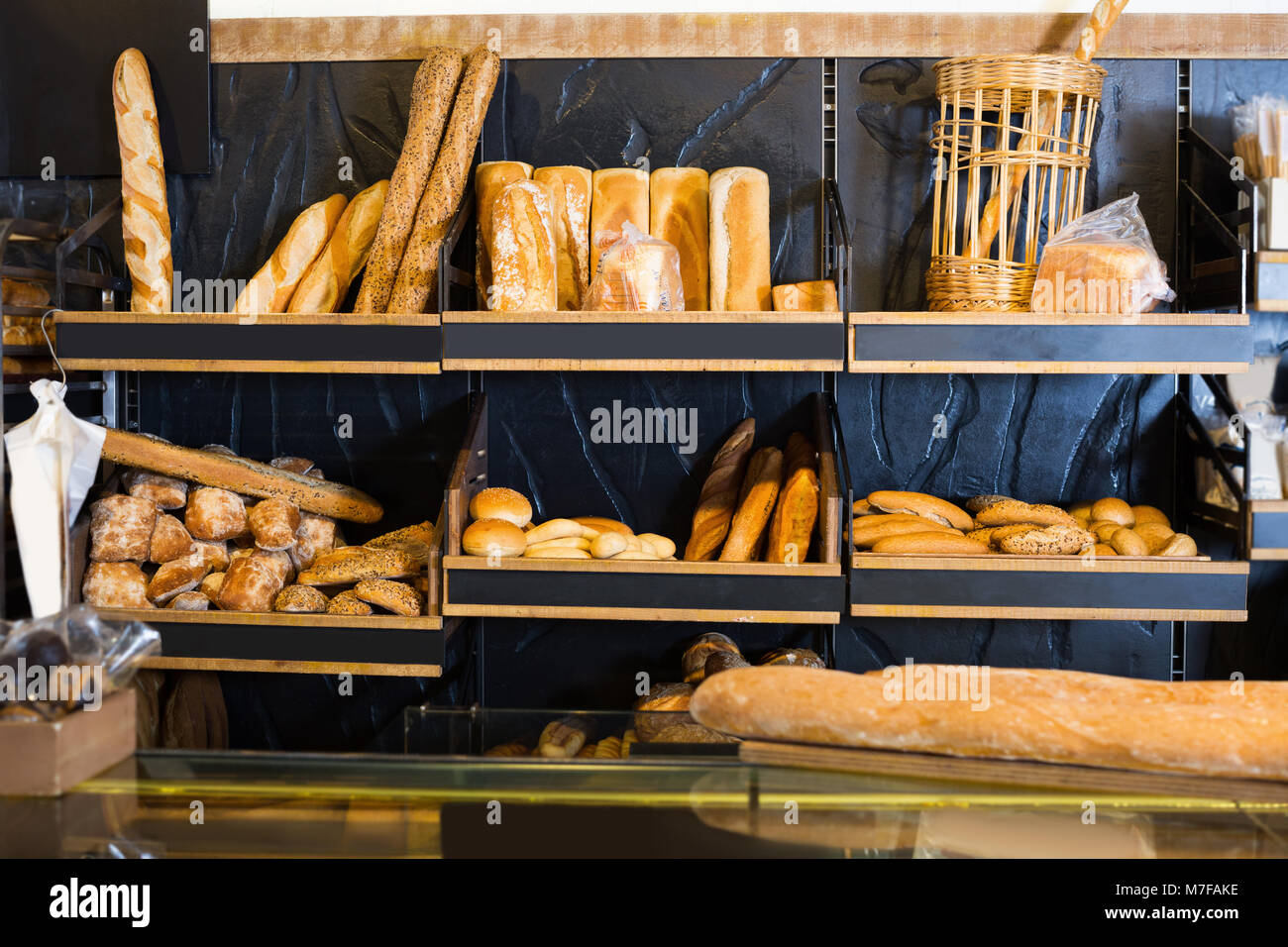 bread on shelves stock photos bread on shelves stock. Black Bedroom Furniture Sets. Home Design Ideas