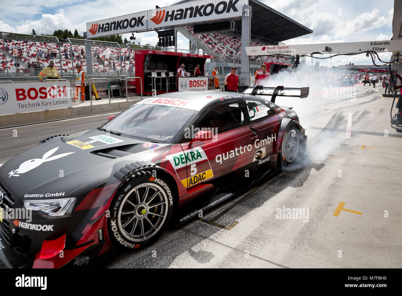 The Audi Rs Team Dtm Car Of Audi Sport Team Rosberg Participates In Stock Photo Alamy