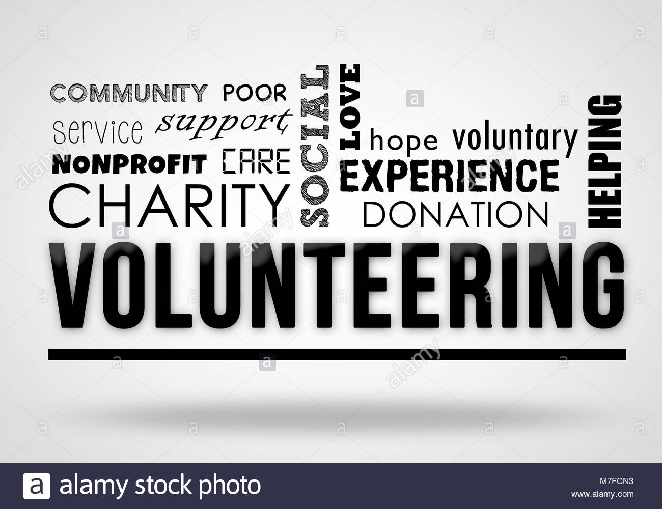 Volunteering - collage concept - Stock Image