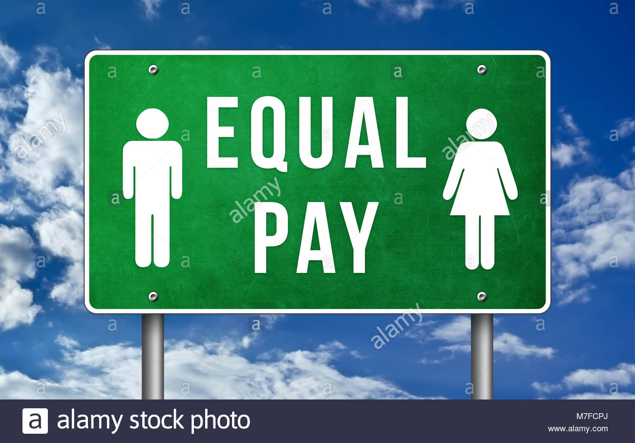 Equal Pay - gender pay gap - Stock Image