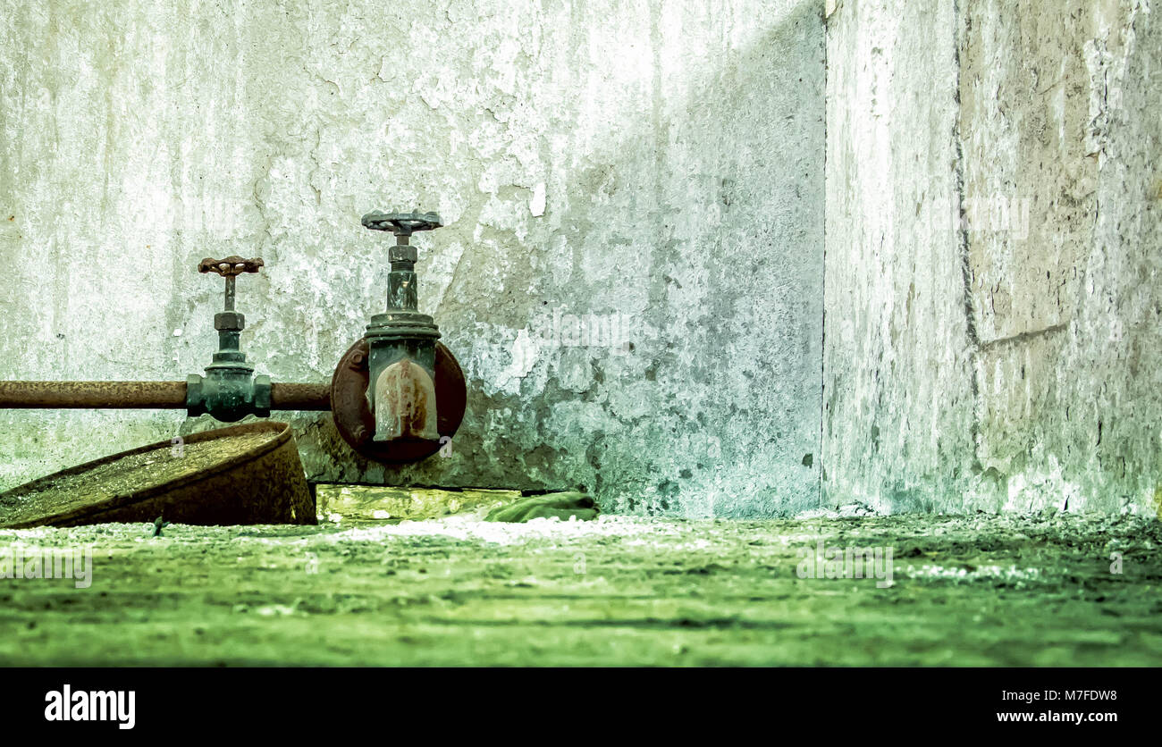 Rusty water faucet in the background Stock Photo: 176746452 - Alamy