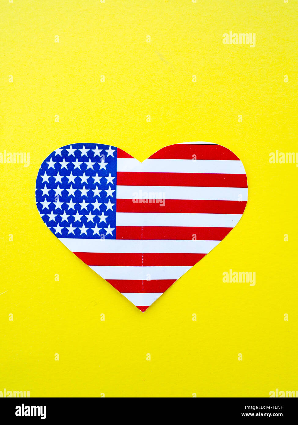 American Flag In Shape Heart Stock Photos & American Flag In Shape ...