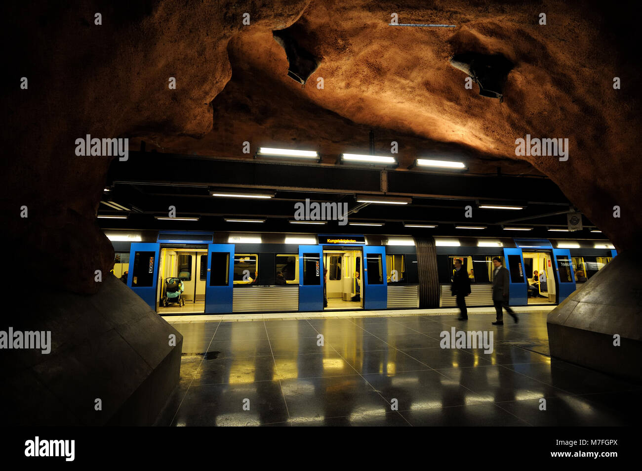 Rådhuset metro station, Stockholm, Sweden Stock Photo