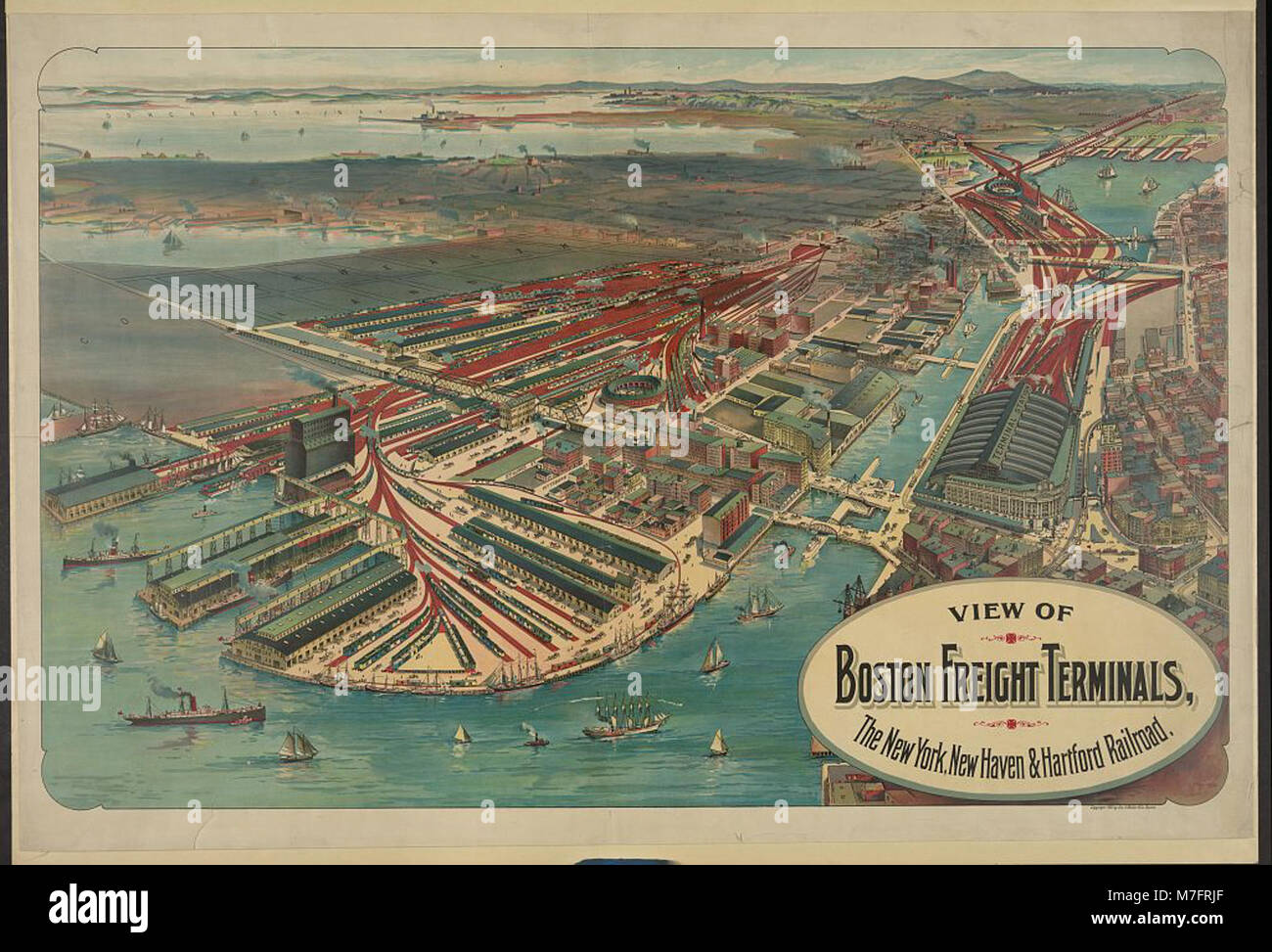 View Of Boston Freight Terminals The New York New Haven Hartford
