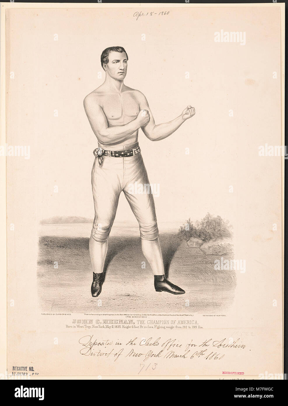 John C. Heenan, the champion of America- (the benicia boy) LCCN2002707678 - Stock Image