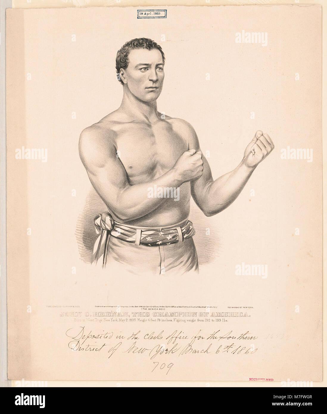 John C. Heenan, the champion of America- ('the benicia boy') LCCN2002707679 - Stock Image