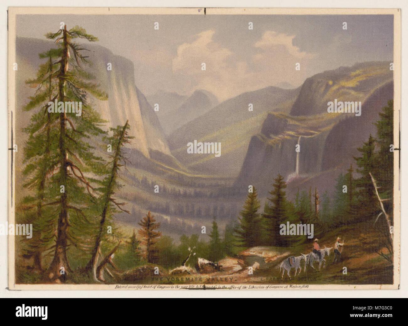 The Yosemite Valley - L. Prang & Co., Bost. LCCN94508695 - Stock Image