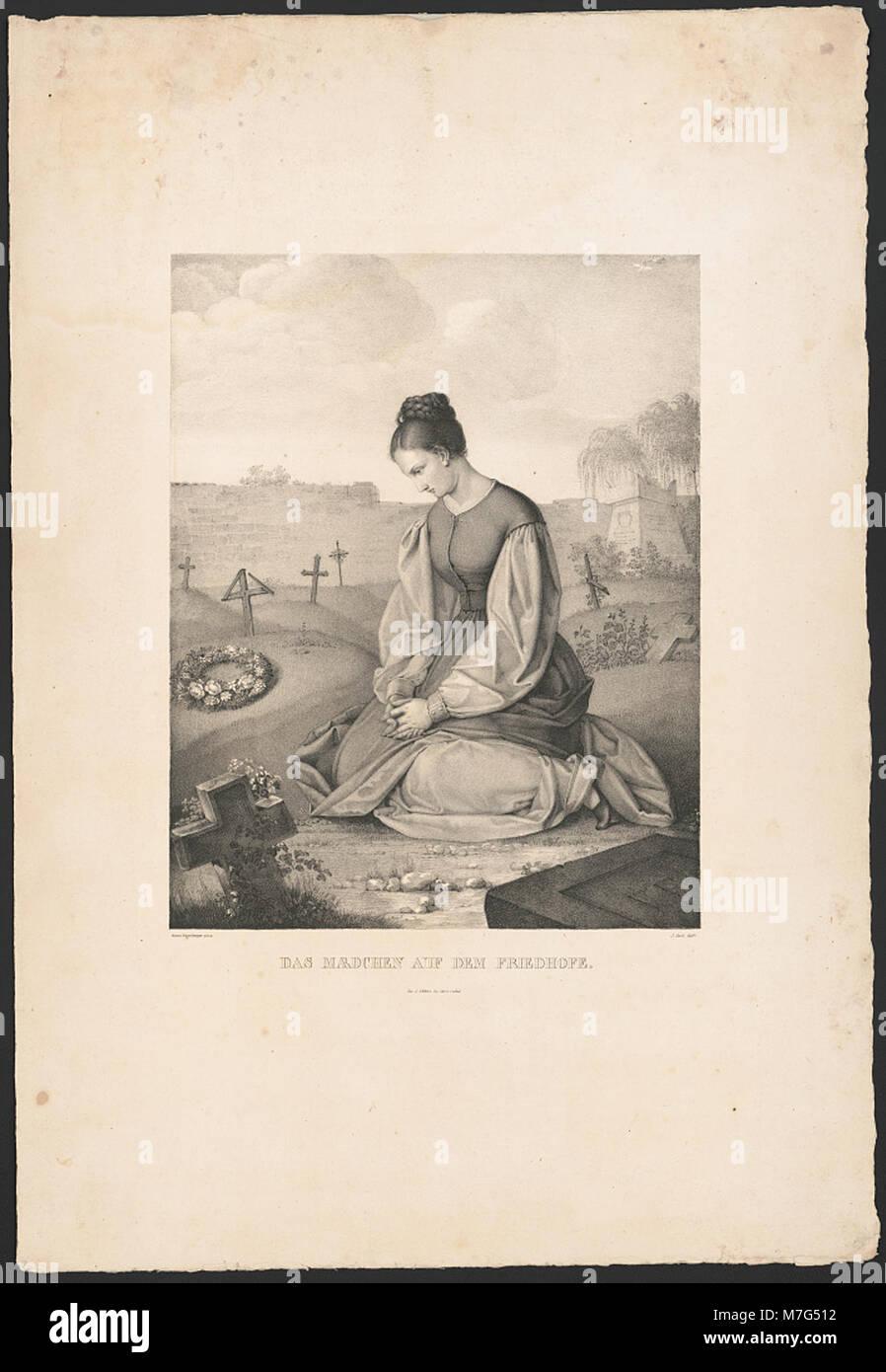 Das Mædchen auf dem Friedhofe (sic) - Gustav Dittenberger pinx. ; J. Oeri delt. LCCN2015647815 Stock Photo