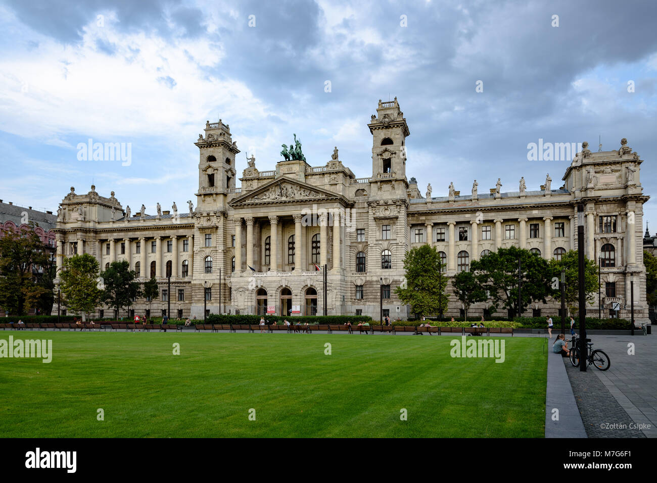 The Museum of Ethnography in Budapest, Hungary - Stock Image
