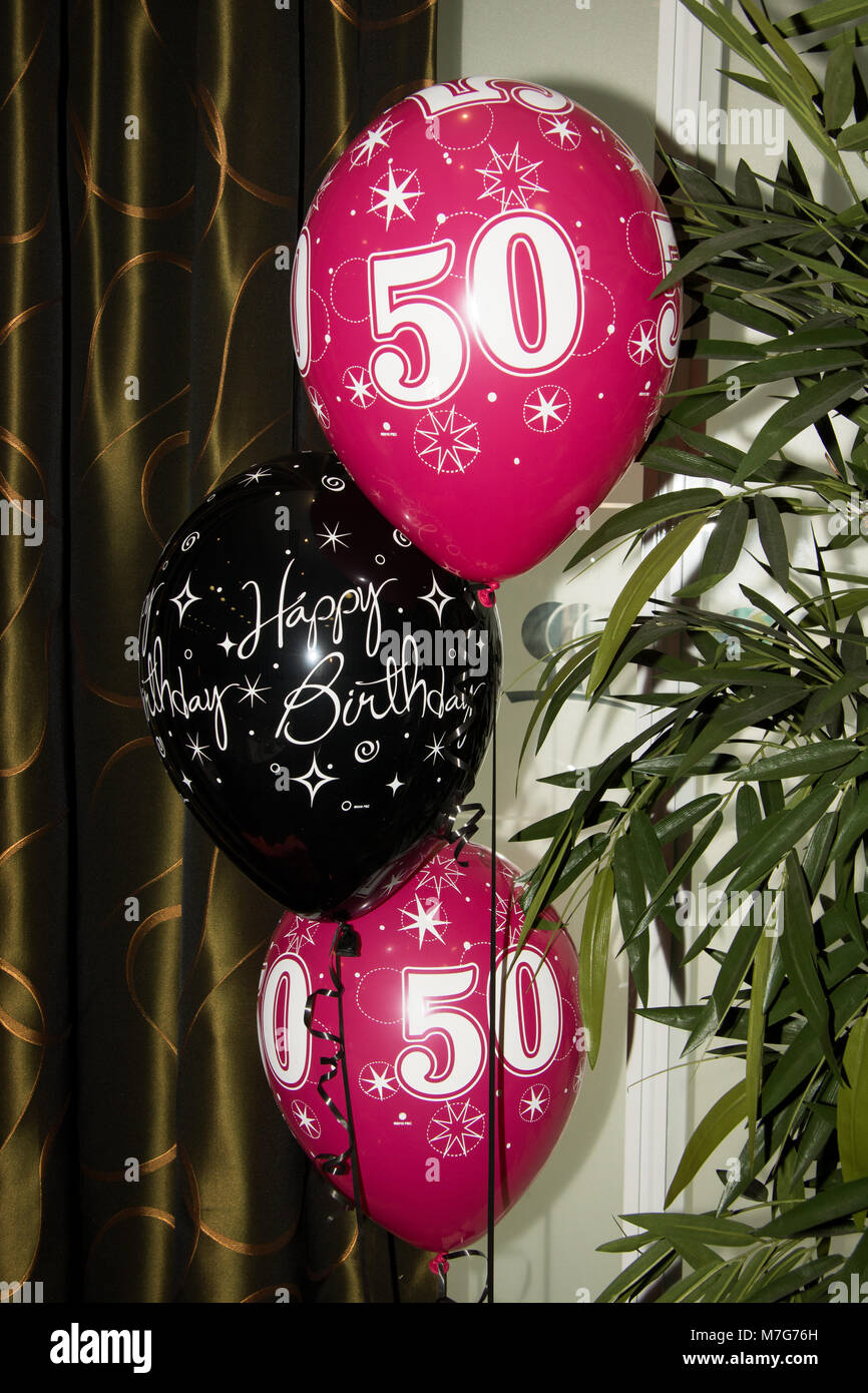 50th Birthday Balloons Stock Photos 50th Birthday Balloons Stock