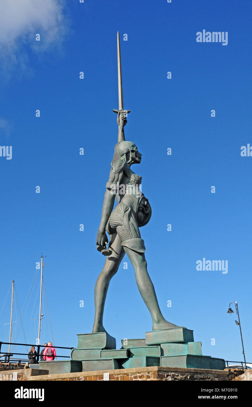 Verity by Damien Hirst, Ilfracombe Harbour - Stock Image