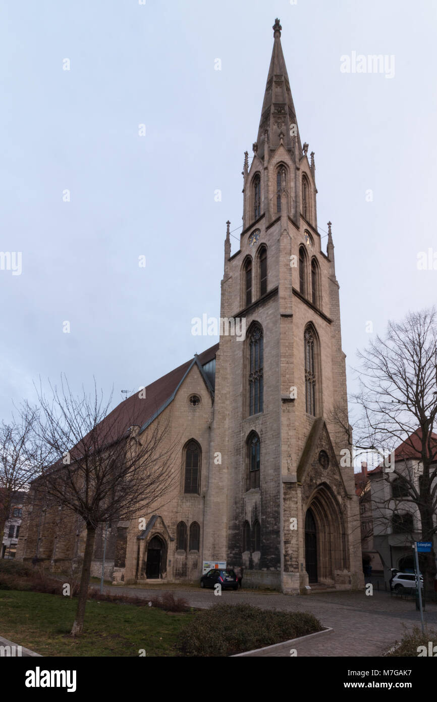 Merseburg, Germany - March 9,2018: View of the church of the city of Merseburg, Germany. - Stock Image