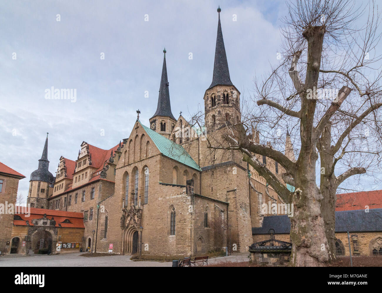 View of the Cathedral of the City of Merseburg, Germany - Stock Image