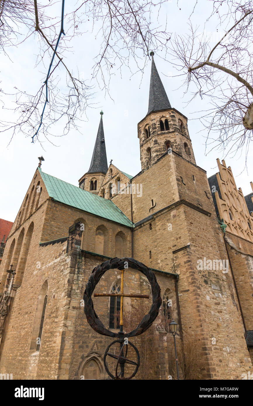 View of the cathedral of the city of Merseburg, Germany. - Stock Image