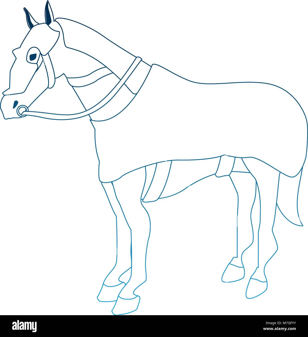 Horse With Medieval Armour Vector Illustration Graphic Design Stock Vector Image Art Alamy