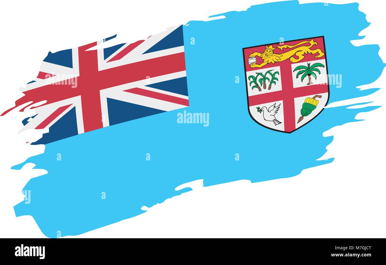 Fiji Flag Vector Illustration Stock Vector Image Art Alamy