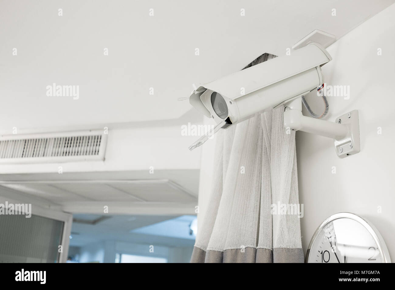 Security camera in ICU and emergency, ER room in the hospital to watch patient real time and to protect patient - Stock Image