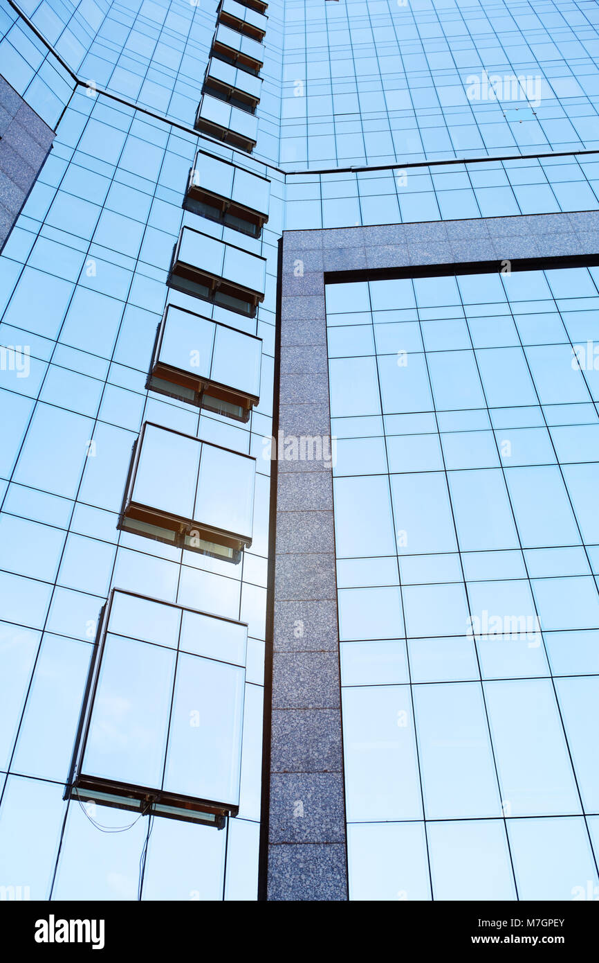 Low Angle View Of Tall Office Buildings. Vertical photo Stock Photo