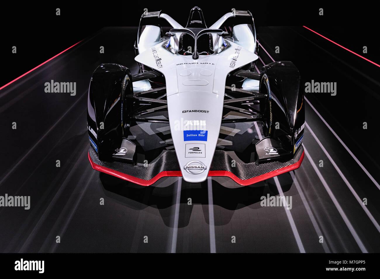 Nissan Formula E Electric Racing Car Geneva Motor Show