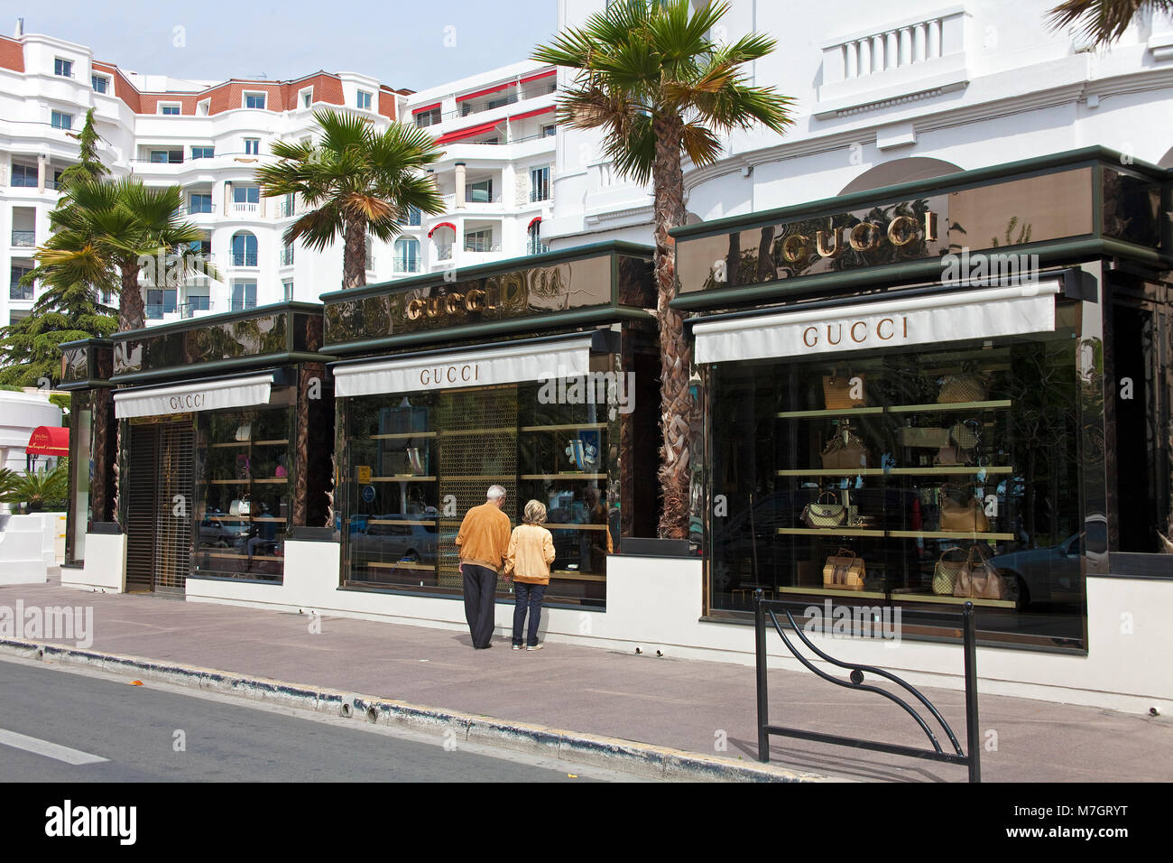 Gucci shop at the Hotel Barriere Le Majestic, Cannes, french riviera, South  France, France, Europe 1aef40d7a72