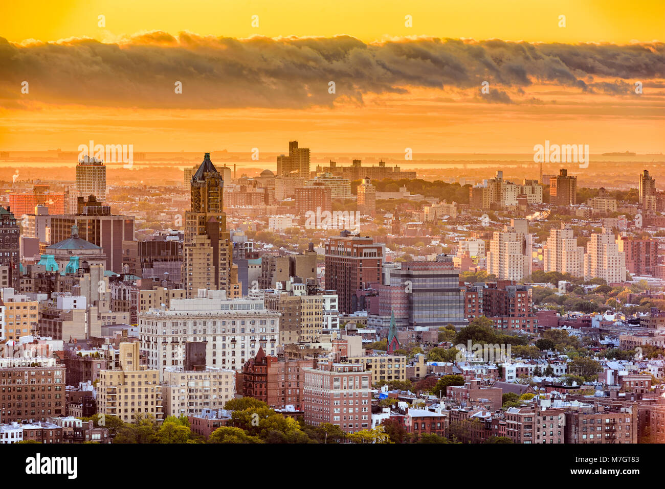 Brooklyn, New York, USA cityscape over downtown in the late afternoon. - Stock Image