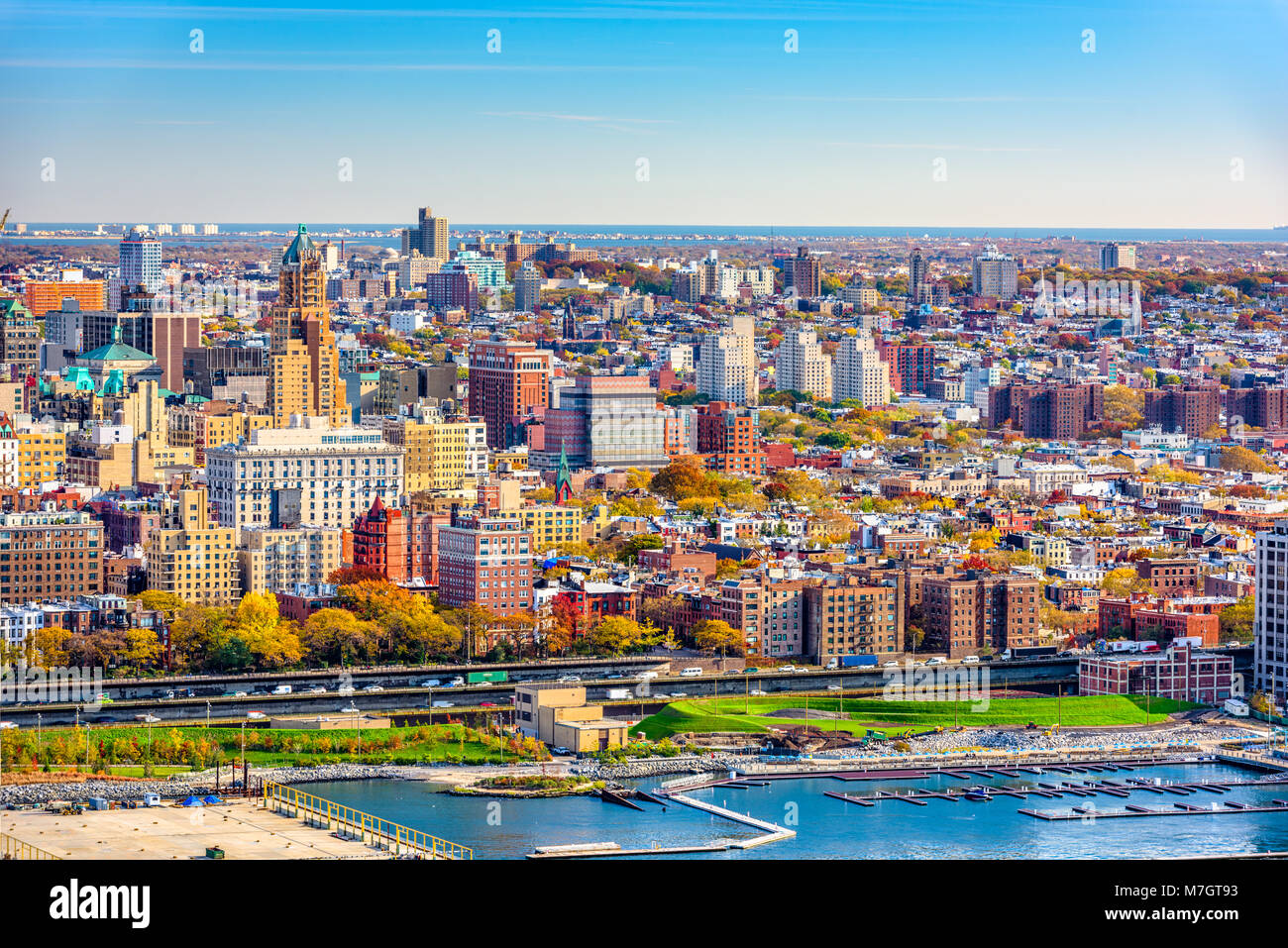 Brooklyn, New York, USA cityscape over downtown - Stock Image