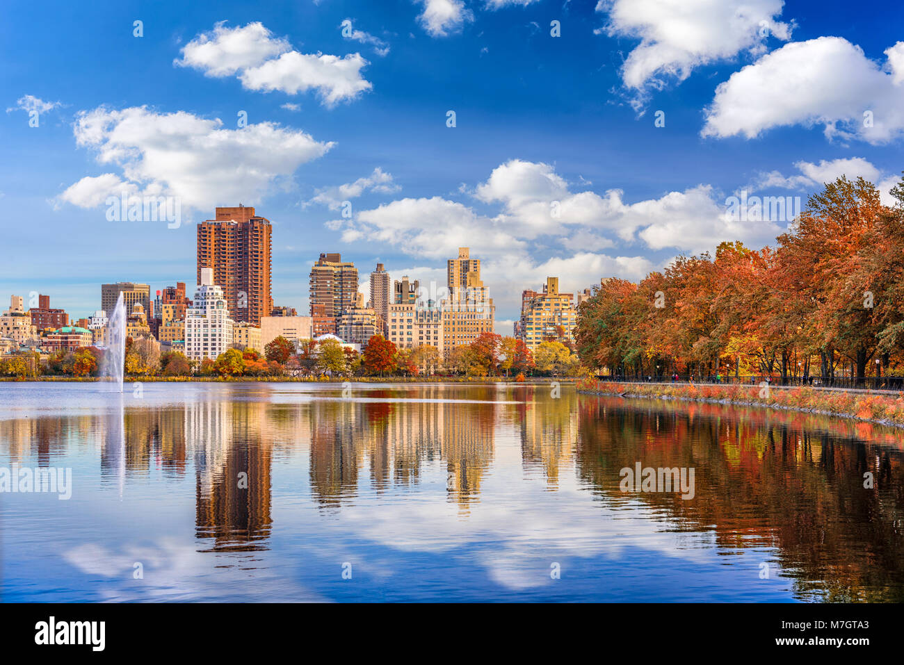 New York, New York at central park in autumn season. - Stock Image