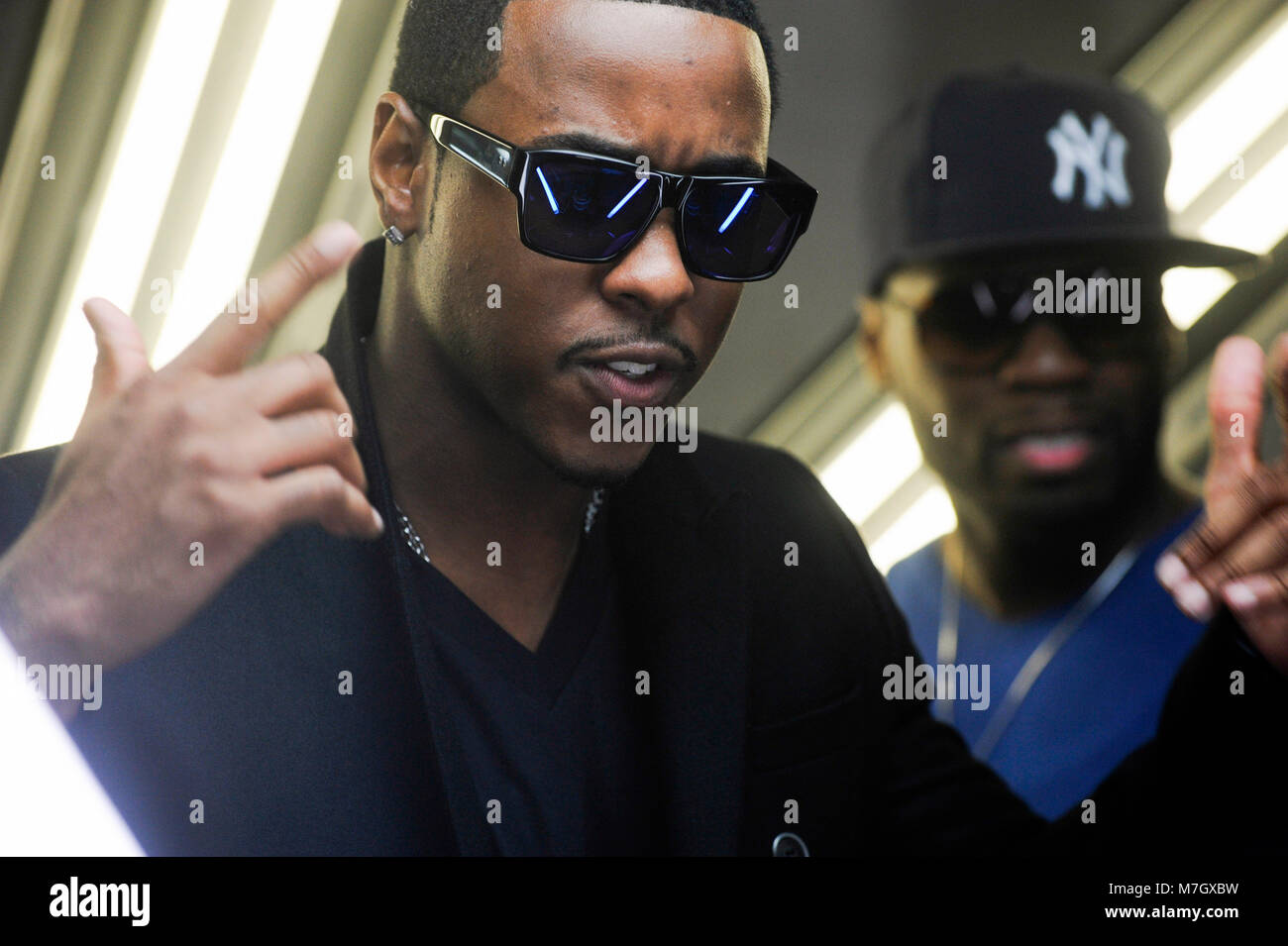 Jeremih and 50 Cent on-set at the Jeremih featuring 50 Cent