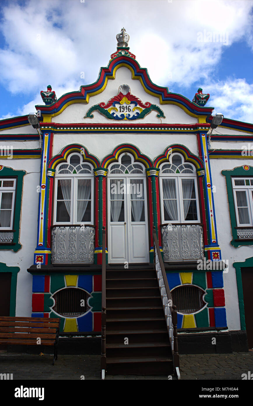 Imperio do Galinho in Porto Judeu, Terceira Island, Azores, Portugal - Stock Image