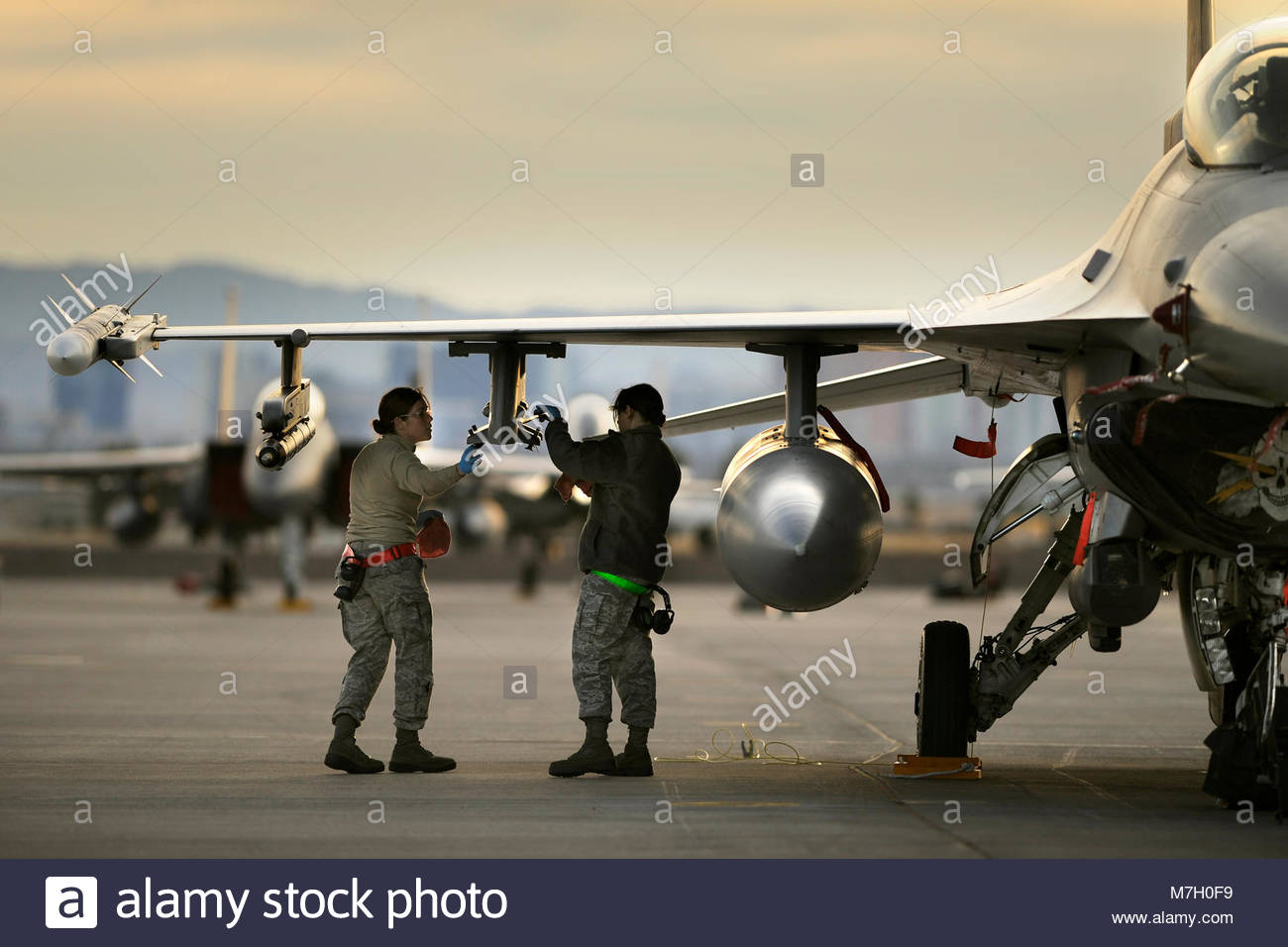 414th Combat Training Squadron Red Flag. Stock Photo