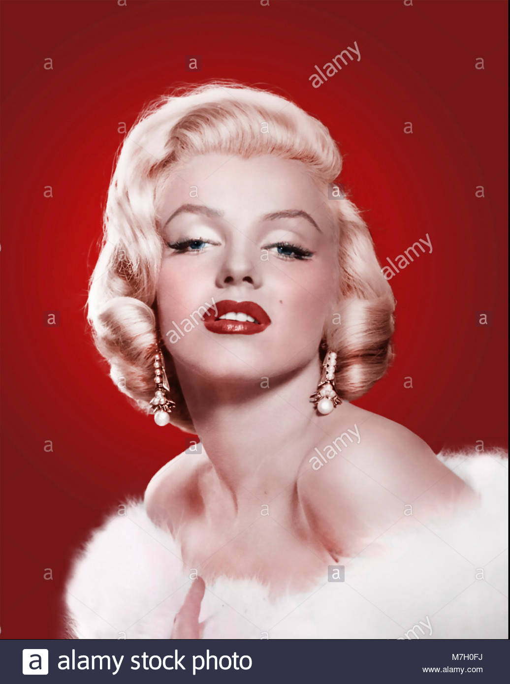 MARILYN MONROE (1926-1962) American film actress in 1953 - Stock Image