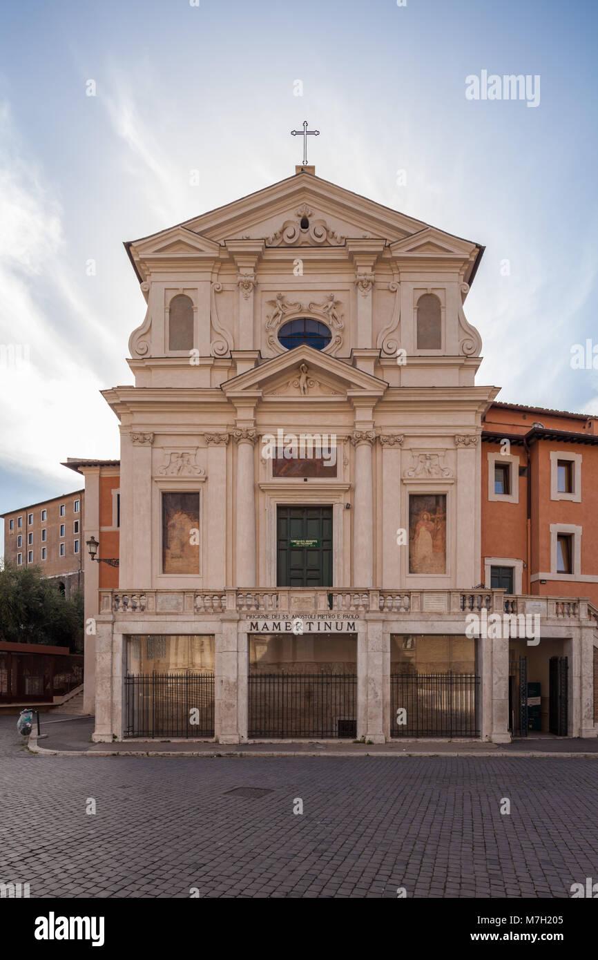 Church of San Giuseppe dei Falegnami & Mamertine Prison, Rome, Italy - Stock Image