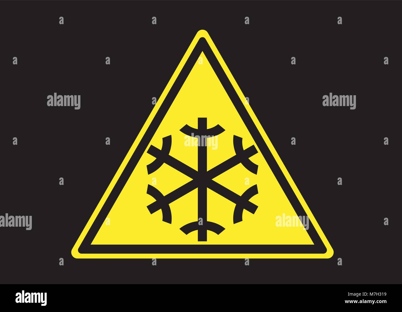 Design vector of low temperature warning sign - Stock Vector