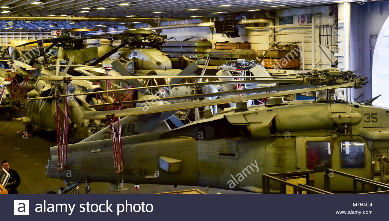Sikorsky CH-53E Sea Stallion (I see a conflict with the. OCEAN (Sept. 10, 2017) CH-53E Sea Stallion helicopters - Stock Image