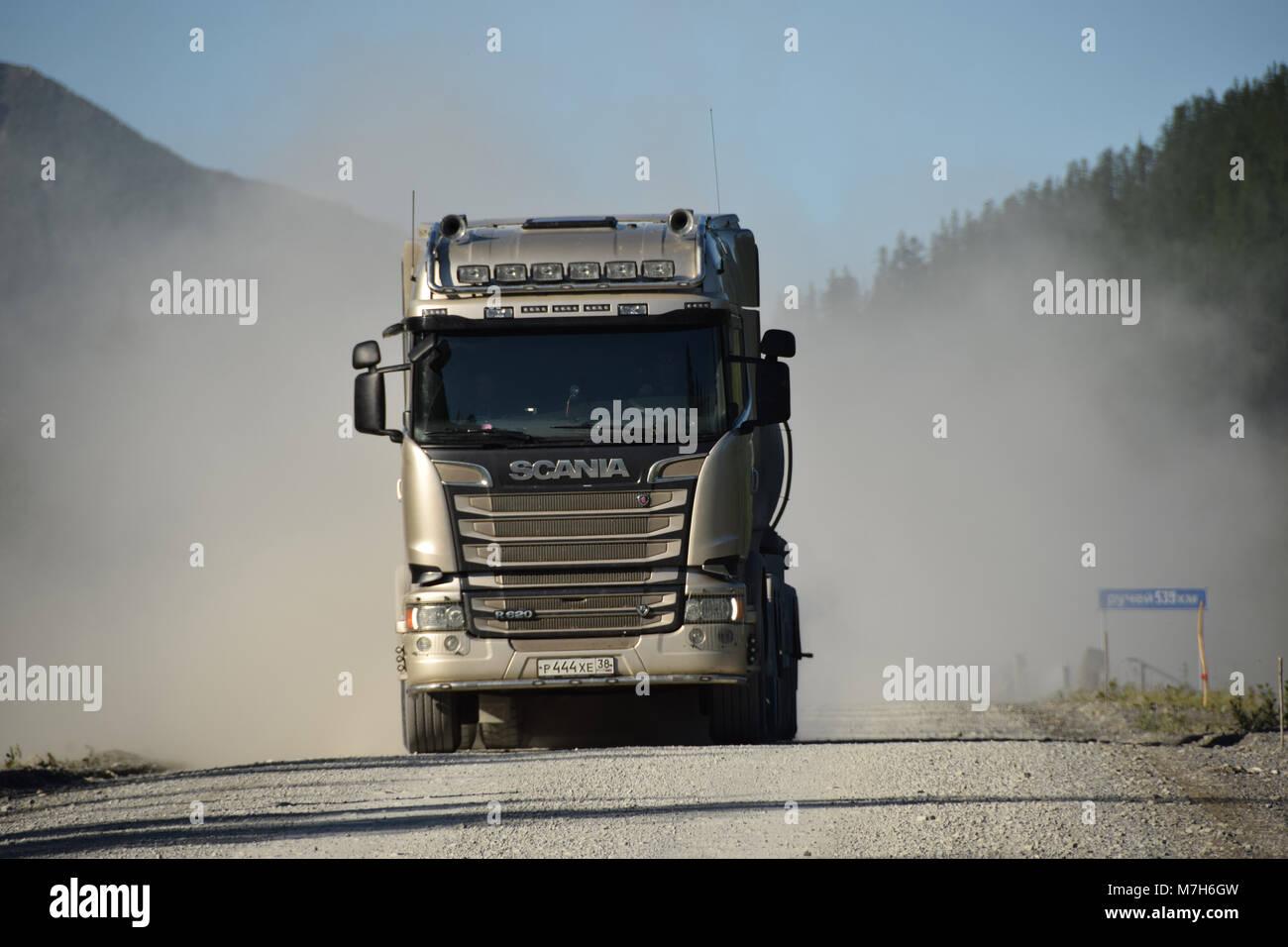 Scania Truck Road Stock Photos & Scania Truck Road Stock
