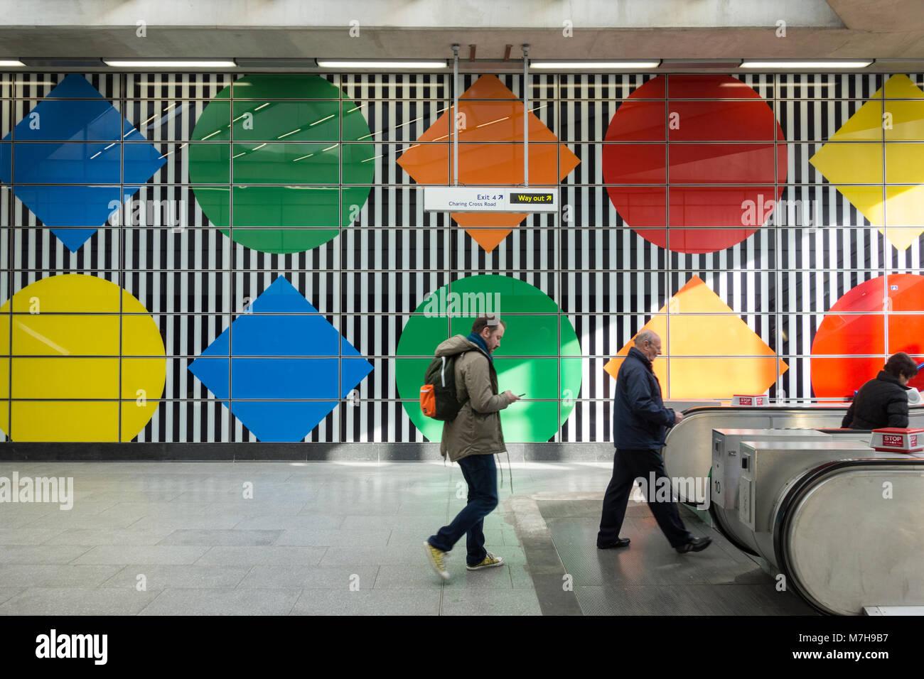 Daniel Buren S Wide Stripes And Geometric Patterns At Tottenham Court Stock Photo Alamy