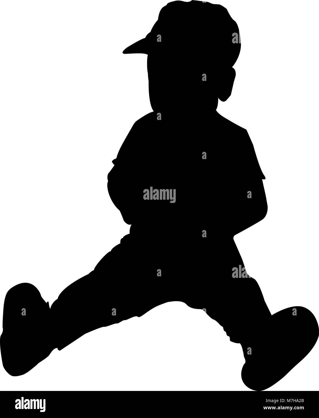 silhouette of baby sitting vector illustration - Stock Vector