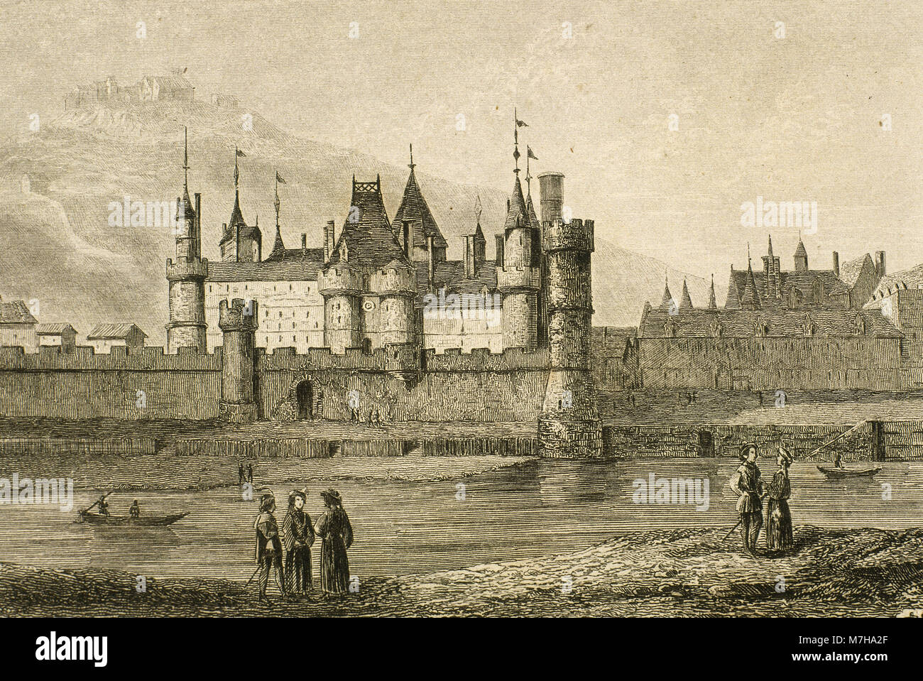 Paris France The Louvre Palace During The Reign 1364 1380 Of King Stock Photo Alamy