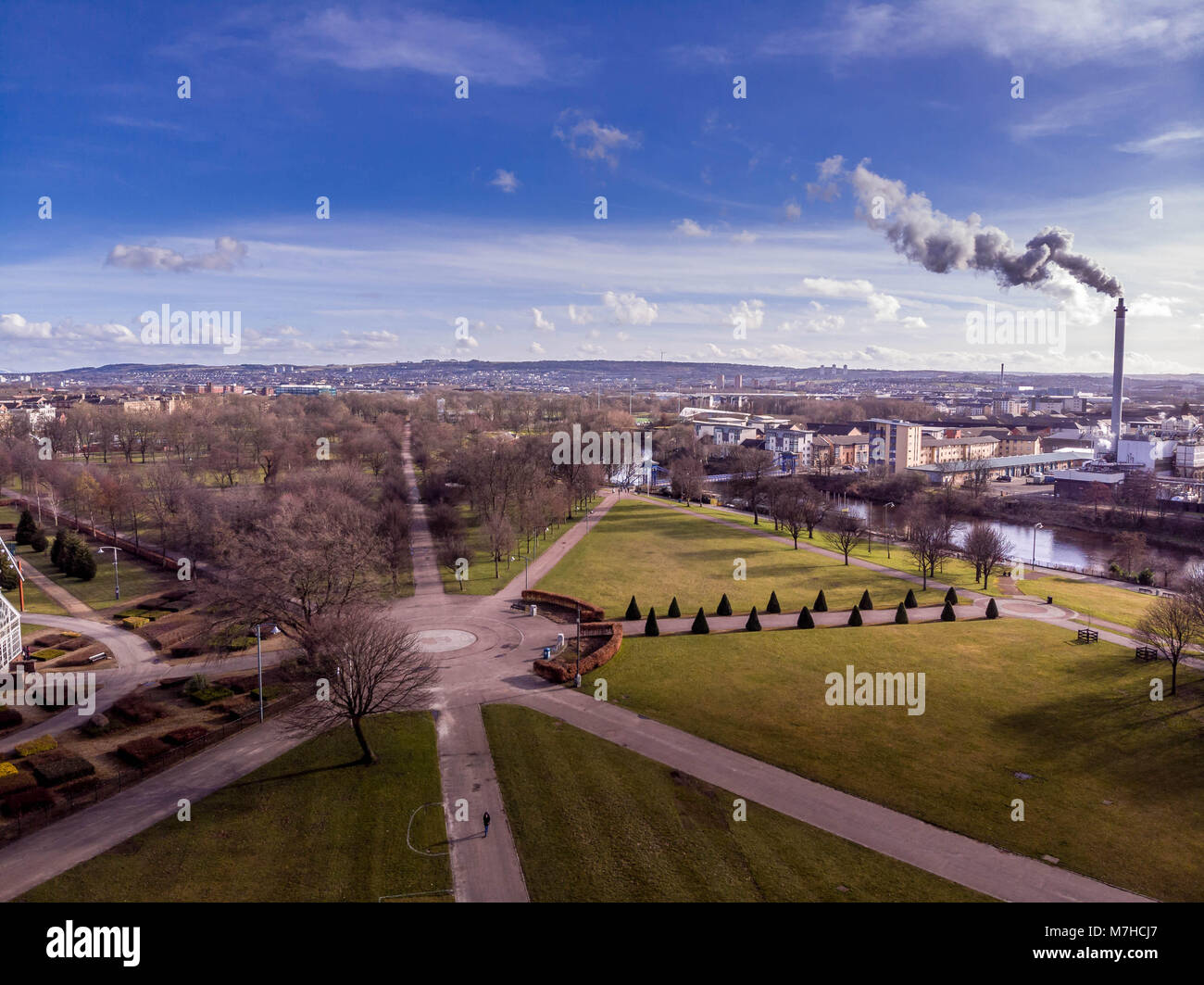Glasgow a modern city from a different angle of this beautiful modern city in Scotland UK - Stock Image