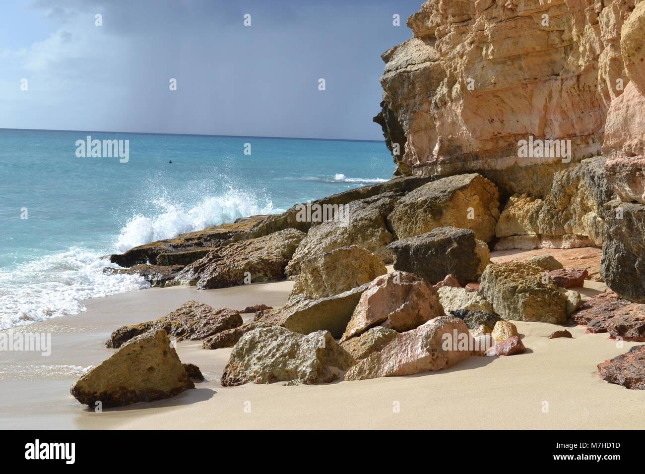 St Maarten Cupecoy - Stock Image